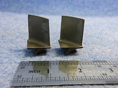 Lot of 2 Scrap Engine Turbine Blades only for collectors/art