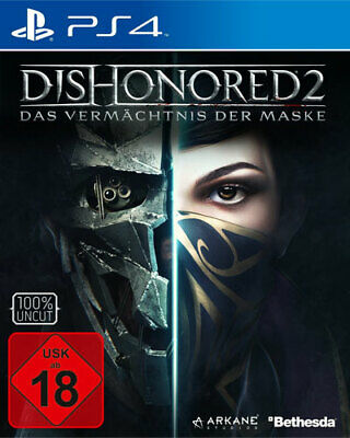 Dishonored 2 D1-Edition + Metal Plate | PS4 | NEU & OVP | UNCUT | Blitzversand