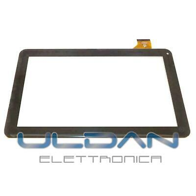 """TOUCH SCREEN per Majestic TAB 411 3G VETRO Tablet Digitizer 10,1"""" Nero - GLS 24H"""