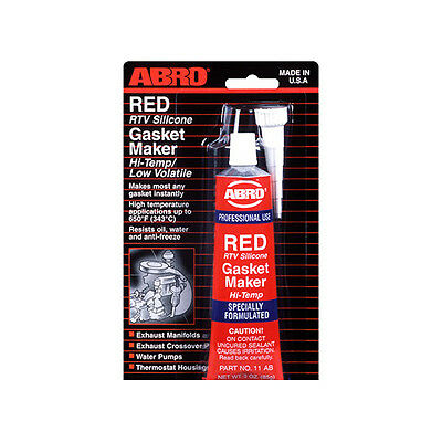 Abro RED RTV Silicone Instant Gasket Maker Sealant Adhesive Oil Water Proof