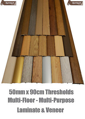 Quality Laminate Room Threshold Door Strips 50mm Ajustable Height & Pivot 90cm