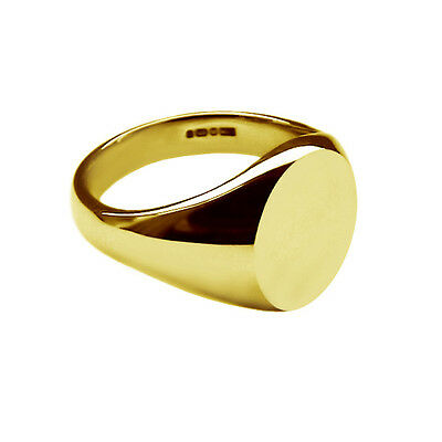 18ct Solid Yellow Gold Ladies Oval Pinky Signet Rings 11x9mm 750 UK HM Bespoke