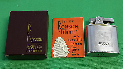 RONSON Vintage late 1940s early 1950s Triumph Lighter in box with instructions