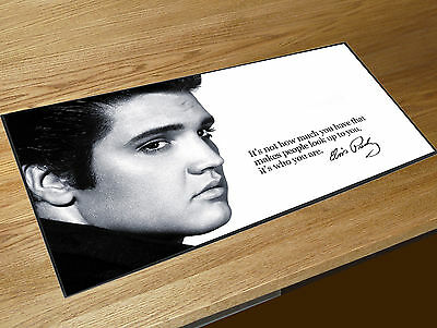 Elvis Presley The King Zitat barmatte Kneipen & Cocktail Bars