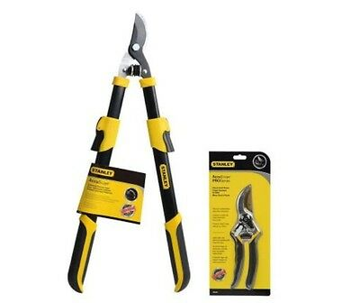 Stanley Pruner and Bypass Lopper Combo Pack Shear Blade Pruning Pruner Tool New