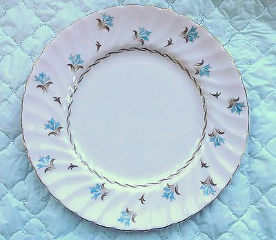 "Tuscan 'Florette' 8 1/4"" Luncheon Plate Pink with Brown/Blue Design (895)"