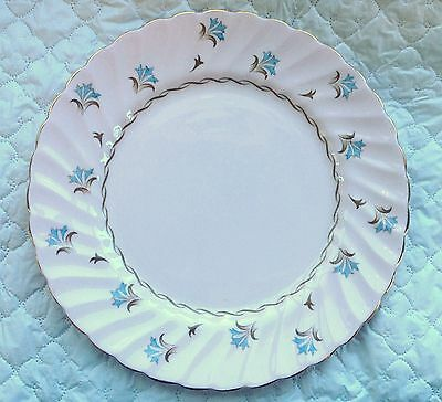 "Tuscan 'Florette' 10 1/2"" Dinner Plate Pink with Brown/Blue Design (896)"