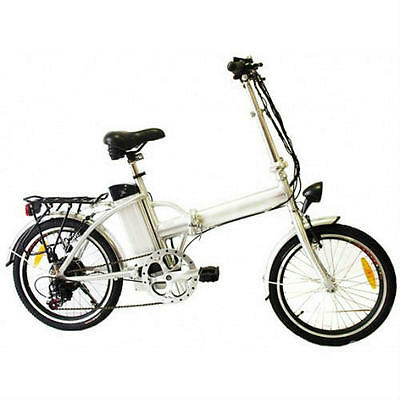 ZoomBicycle-441 White 250W Folding Lithium Electric Bicycle Light Portable