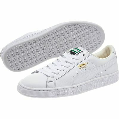 online retailer c87fd 5013f Womens US Size 11 PUMA BASKET Classic WHITE LEATHER Lifestyle LFS SNEAKERS  Shoes