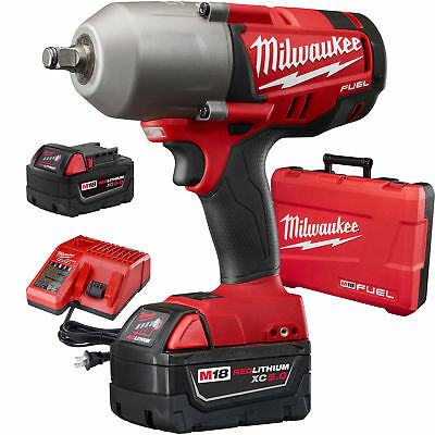 "M18 FUEL 1/2"" High Torque Impact Wrench Kit w/ Hog Ring Milwaukee 2763-22 New"