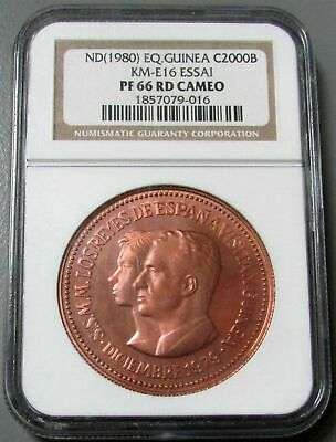 1980 Equatorial Guinea 40 Minted 2000 Bipkwele Pattern Ngc Proof 66 Red Cameo