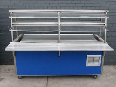 Vollrath Frost Top Unit Cold Food Buffet Salad Bar Station with Sneeze Guard