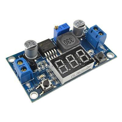 2PCS LM2596 Buck Step-down Power Converter Module 4.0~40 to 1.3-37V Voltmeter