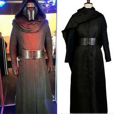 New Star Wars 7 The Force Awakens Kylo Ren Cosplay Costume Mens Uniform Outfits