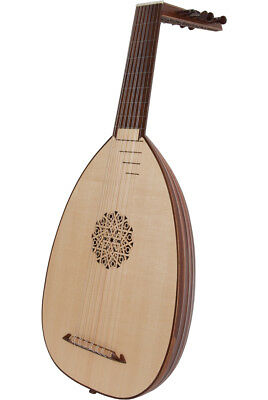 """Roosebeck 23.62"""" Deluxe Lute 7 Course Canadian Spruce & Padded Gig Bag"""