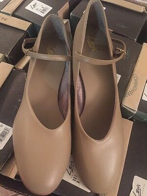 "LEO'S 321 DANCEWEAR  WOMEN'S TAN CHARACTER 1.5"" HEEL SHOES Size 7-11.5 Dance"