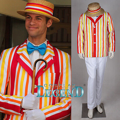 Mary Poppins Bert Jacket Costume Suit Cosplay Costume Hat and Jacket Only