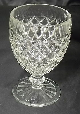 "Depression Era Anchor Hocking Waterford Waffle 5 1/4"" Pedestal Goblet"