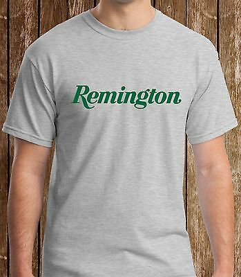 Remington Firearms Grey T-Shirt Custom Men's Tshirt S to 3XL