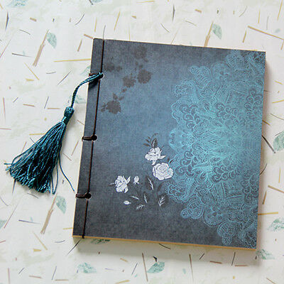 Retro Vintage Classic Notebook Chinese Style Flower Binding Diary Stationery