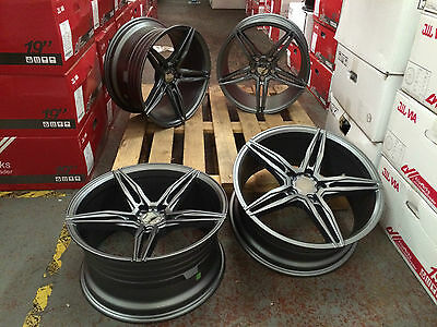 18'' Gunmetal Alloy Wheels Bmw Csl F10 313 Style Fit 3 Series 5 Series Concave