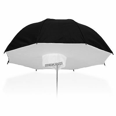 "Selens 100cm / 40"" Black & Silver Reflective Umbrella Softbox Diffuser Studio"