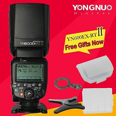 Yongnuo YN600EX-RT II Wireless Flash Speedlite TTL HSS Master for Canon YN-E3-RT