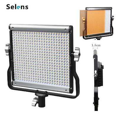 Selens Portable GE-500 5600K Daylight LED Video Continuous Light Lamp Panel NEW
