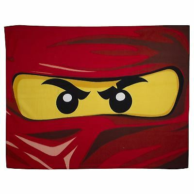 Lego Ninjago Kai Eyes Range Fleece Blanket Bedroom Bed Throw