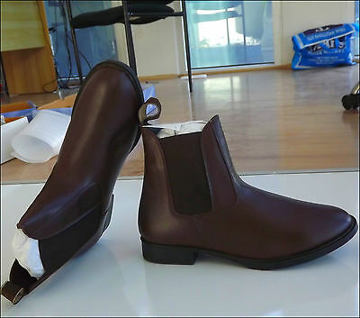 Unicorn Brown Jodhpur Boots Horse Riding Shoes Paddock Ladies Ankle Pull Ons
