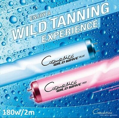 New Cosmedico Wild Wave 180w/250 HOT Twisted Tanning Lamps Sunbed Tubes 2 metre
