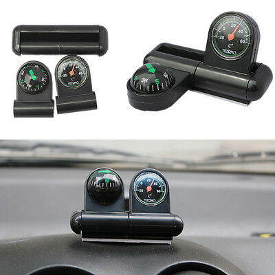 Black vehicle-mounted Thermometer + Compass Car interior decoration items