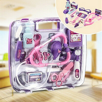 Pretended Doctor's Nurse Medical Carry Case Kit Roll Play Set Kids Toy Gift CC