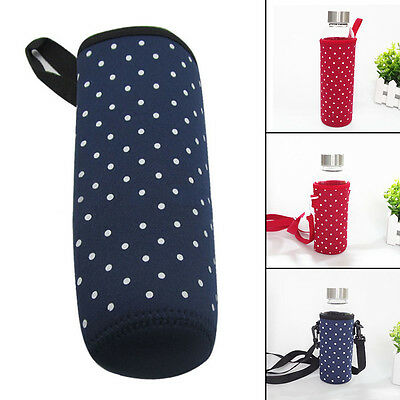 Cup Shoulder Strap Waterproof Pouch Warmer Insulated Bottle Carrier Cover Bag