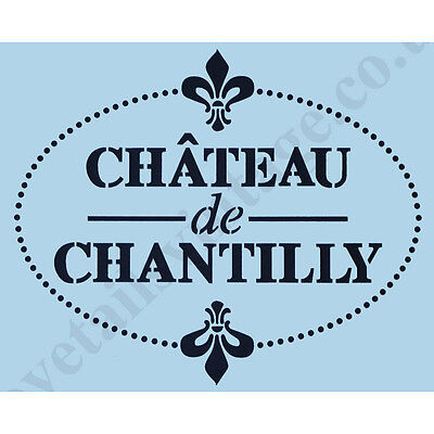 French Stencil Chantilly A4 Sign Paint Re-Usable Airbrush Chateau Wall Craft 013