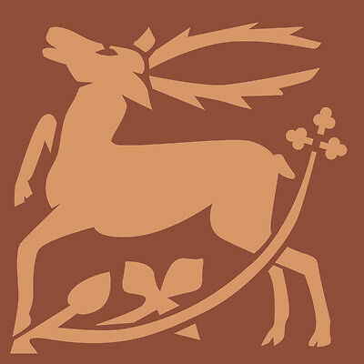 Stag With Flower Stencil A5 Re-Usable Shabby Chic Deer Airbrush Paint Craft 047