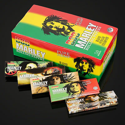 BOB MARLEY Pure Hemp 1 1/4 Rolling Papers - 5 Packs