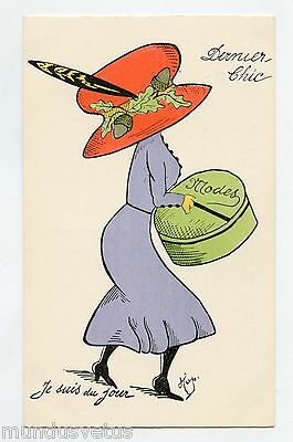 illustrateur HOP . Mode.Fashion . CHAPEAU . DERNIER CHIC . HAT