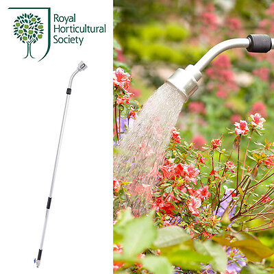 RHS Telescopic Watering Lance 80-140cm with Quick-Click & Geka Couplings