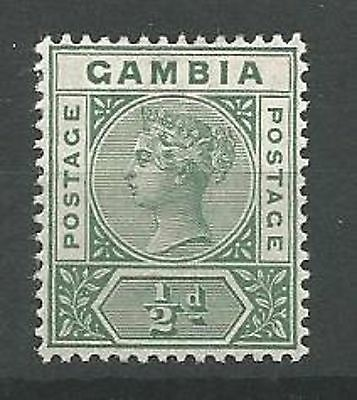 GAMBIA 1898-1902 SG37 1/2d Dull Green Mounted Mint