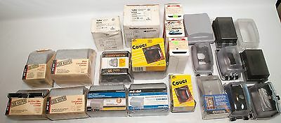 Lot of 22 Weatherproof Outlet GFCI Duplex Switch Receptacle Cover See List Below