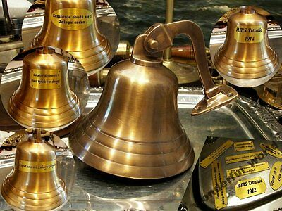 Handcrafted Solid Brass Bell Wall Mounted Decor Ship Nautical  Free Engraving