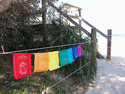 Prayer Flags Chakra Healing Lotus Rainbow Affirmation Prayer Flags Large