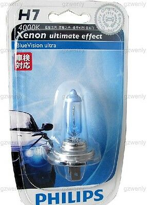 PHILIPS H7 12972BVU BlueVision ultra 4000K whiter right  Xenon ultimate effect