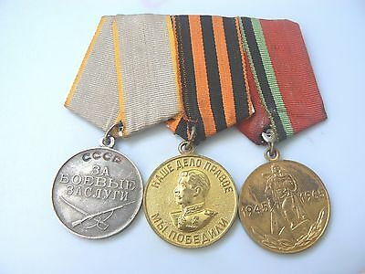 Group 4 Russia, Soviet Wwii Medal Parade Mounted