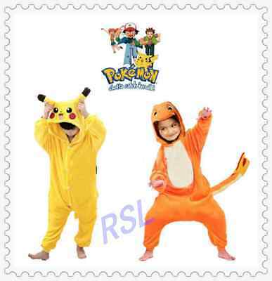 Halloween Pokemon Kids Pyjamas Kigurumi Pikachu Onesie Pajamas Cosplay Costume