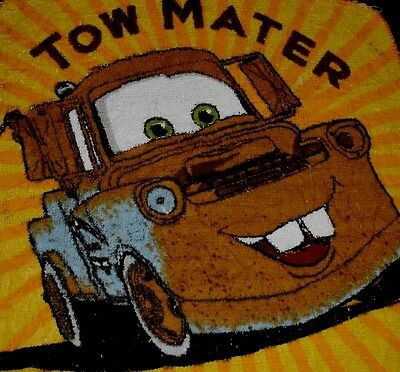 Towels W/ Crochet Top - Kitchen or Bathroom  #w313 Disney Cars Tow Mater