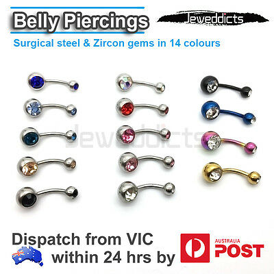 Belly Bar Ring Button Navel Doulbe Zircon Gems Body Piercing Jewellery Barbell