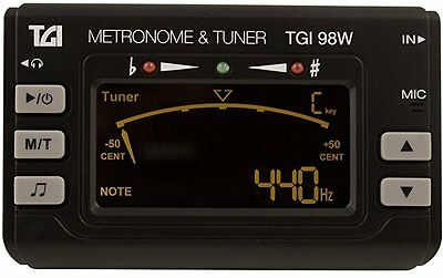 TGI TGI98W Woodwind and Brass Clip on Tuner with Metronome