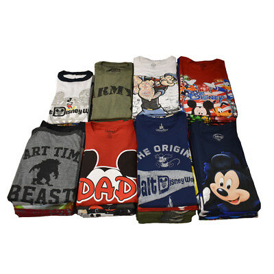 Wholesale Lot 24 Pcs Kids Disney's T-Shirt Assorted Prints Mickey Minnie Pluto